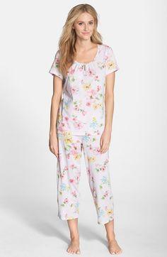 0cbbdbd2eb5 Lauren Ralph Lauren Floral Print Jersey Capri Pajamas