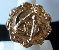 NAPIER Vintage Ring Large Detailed Gemini by PattycatsTreasures, $27.50