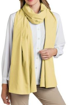 """Extra lengthy for infinite wear options: drape pashmina-style around shoulders or head, lay it over legs when sitting, or keep it handy for impromptu needs.  Extra long for multiple wear options. Breathable, moisture-wicking Measures 94"""" x 24"""" - 239 x 61 cm  Ultra-soft Sun Protection Factor  UPF 50+ - 3D dri SUNTECT  3D dri SUNTECT® A tiny grid pattern lifts this lightweight fabric off skin to allow for superior breathability with a moisture-wicking capability that maximizes cool, dry…"""