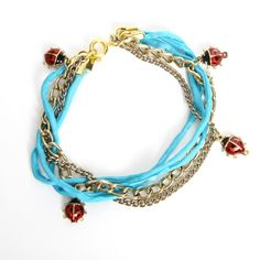 charms of the luckiest little bugs // ladybugs bracelet