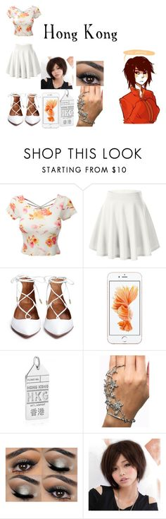 """Hetalia Daughter of Hong Kong"" by imperfectionitst244 ❤ liked on Polyvore featuring LE3NO, Jet Set Candy and Clair Beauty"