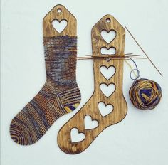 Wooden Socks Blockers Wooden Socks Forms by AlexWorkshopDesign Nine Patch, Knitting Socks, Hand Knitting, Knit Socks, Ukraine, Ravelry, Knitting Supplies, Knitting Accessories, Wood Texture