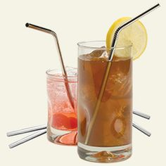 Minimalist techno steel drinking straws - buy or make your self