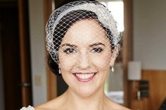 Birdcage veil - timeless classic wedding hair accessory. This veil is attached to two bobby pins at sides. You can adjust the angle by the placement