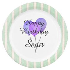 \ Fun Prints\ _Balloons-Party-Monogram-Birthdays Paper Plate  sc 1 st  Pinterest & Balloons and Confetti Personalized Birthday Paper Plate - kids ...
