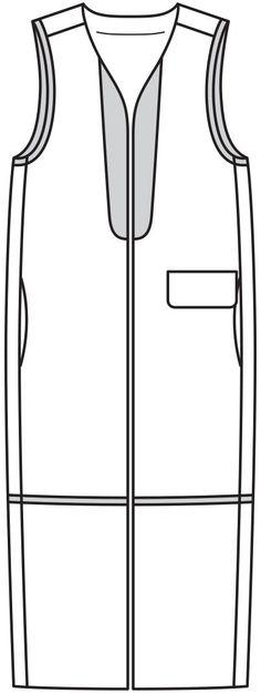 Жилет средней длины - выкройка № 107 из журнала 12/2015 Burda – выкройки жилетов на Burdastyle.ru