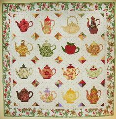Teapots and quilt!!
