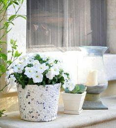 Mãos que  transforma. A arte em você: Como fazer um vaso com balde de metal, argamassa o...