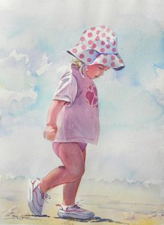 Toddler in Pink on the Beach web.jpg 526×720 pixels