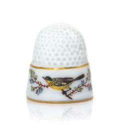 A Meissen Porcelain Thimble, Height 3/4 inch.