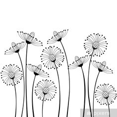 meadow flowers Wall Mural • Pixers® • We live to change