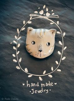 Mister Cat brooch handmade jewelry