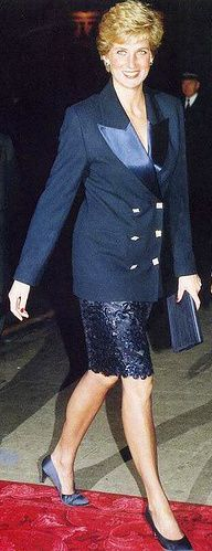 October 14, 1990: Princess Diana at a variety show London Palladuim
