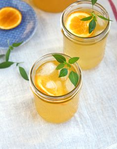 Thai Basil Sangria: simple syrup, basil, lemon, orange, pinot grigio, brandy, orange juice, club soda. #cocktails #girlsnight