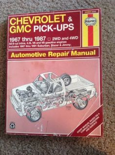 1984 1996 chevrolet parts and illustration catalog scr1 repair haynes 24064 repair manual chevrolet gmc pick ups 1967 thru 1987 2wd and 4wd fandeluxe Image collections