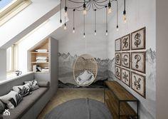 """""""cegła górą"""" - Sypialnia, styl industrialny - zdjęcie od KOLORUM - homebook Room, Furniture, Design, Home Decor, Bedroom, Homemade Home Decor, Rooms, Home Furnishings"""