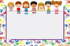 Culto infantil Display Boards For School, School Displays, School Border, Kindergarten Portfolio, Boarder Designs, Powerpoint Background Design, Kids Background, School Frame, Happy Children's Day