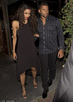After the show:Later Ciara switched into a black minidress and lace-up heels to join Kell...