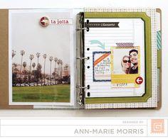 Basic Grey Capture Imagination Binder Mini Album |Anne-Marie Morris