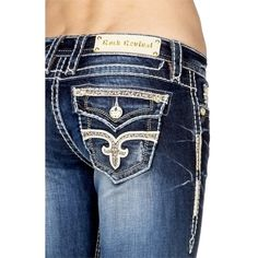 Pre-owned Rock Revival Boot Cut Jeans (160 CAD) ❤ liked on Polyvore