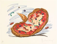 Claes Oldenburg. Pizza/Palette. 1996