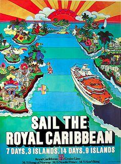 Designer unknown, 1970s, Royal Caribbean Cruise Line.