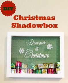 DIY Christmas Shadowbox | Silhouette Vinyl Project | Don't Peek Til Christmas!