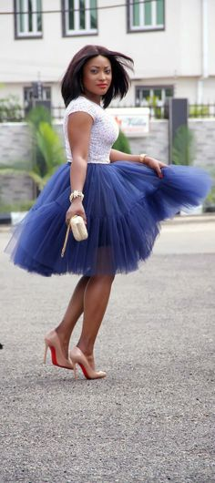 I LOVE This Skirt with the Pink Shoes!!!