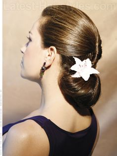 Sleek Twisted Chignon Back View