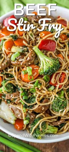 This easy authentic beef stir fry recipe is SO much better than take out. This easy authentic beef stir fry recipe is SO much better than take out. We love making teriyaki beef stir fry when we are entertaining! Teriyaki Stir Fry, Easy Beef Stir Fry, Beef Noodle Stir Fry, Recipe For Beef Stir Fry, How To Stir Fry, Asian Beef Stir Fry, Beef Stir Fry Sauce, Stir Fry Pasta, Healthy Recipes