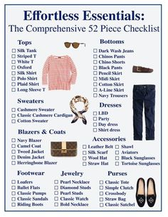 Wardrobe Essentials Checklist — Audrey À La Mode Capsule Wardrobe Summer 2016 Outfit Essentials, Preppy Essentials, Classic Wardrobe, New Wardrobe, Professional Wardrobe, French Wardrobe Basics, Capsule Wardrobe How To Build A, French Capsule Wardrobe, Preppy Wardrobe