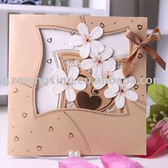 papercraft birthday cards for women | embroidered cards embroidered cards place cards flower gift wrapping ...
