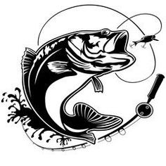 Fishing Logo Bass Fish Club Emblem Stock Vector (Royalty Free) 573908830 - Famous Last Words Pike Fishing, Fly Fishing, Fishing Gifts, Fishing Reels, Catfish Fishing, Fishing Pliers, Crappie Fishing, Salmon Fishing, Saltwater Fishing