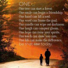 ... una vida puede hacer la diferencia ...