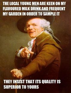 My Milkshake brings all the boys to the yard... 25 Awesome Joseph Ducreux Memes – Holytaco