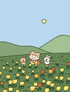 배경화면 (아이폰, 갤럭시, 아이패드 등등,,) : 네이버 블로그 Soft Wallpaper, Bear Wallpaper, Kawaii Wallpaper, Cute Wallpapers For Ipad, Cute Cartoon Wallpapers, Cartoon Kunst, Cartoon Art, Wallpaper Iphone Disney, Korean Art