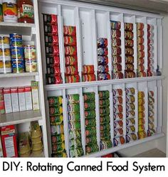 DIY: Rotating Canned Food System