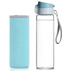 b6c659644e Reeho 17 oz BPAFree Borosilicate Glass Water Bottle With Protective  Neoprene Sleeve and Strap Sport Bottles