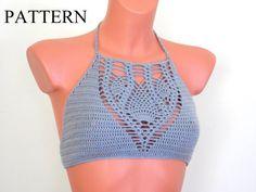 Crochet patrón Top Halter patrón Top Halter por LOVEKNITCROCHET