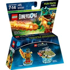 Lincoln has lego dimensions character Cragger and swamp skimmer