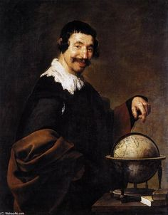'Demokrit', öl auf leinwand von Diego Velazquez (1599-1660, Spain)