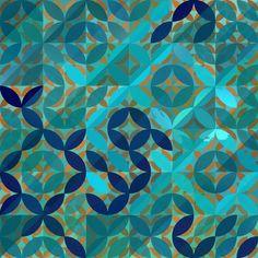 No. 6 Art Print by Lunamumma | Society6 aqua turquoise teal blue