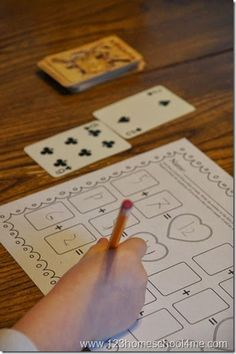 FREE Deck of Cards Math - Super CLEVER, unique, and ever changing Addition Worksheets for first grade and 2nd grade kids. Perfect for math centers, morning seat work, homework, and homeschool. #freeworksheets #mathworksheets #worksheetsforkids #addition #additionpractice #additionworksheets #deckofcards #kindergarten #firstgrade