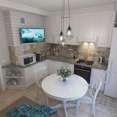 211 отметок «Нравится», 4 комментариев — Александр Смеющев (@vis77) в Instagram: «Проект 1-комнатной квартиры 43 кв.м. Для родителей жены. Кухня. #interiordesign #design #project…»