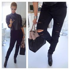 Love black dress by Dukai Regina ♡ Black Jeans, Singer, Elegant, Celebrities, My Style, Pants, Outfits, Color, Dresses