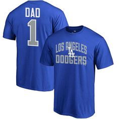 Los Angeles Dodgers #1 Dad T-Shirt - Royal