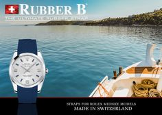 Splendid. Air King with Rubber B - The Ultimate Rubber Strap. Made in Switzerland. www.RubberB.com.