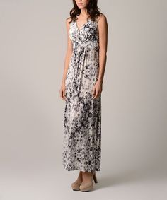 Look at this Christine V Black Tie-Dye Empire-Waist Maxi Dress - Women on #zulily today!