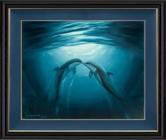 """Kiss of the Sea."" -Artist: Wyland-"