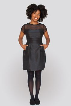 I love the versions I've seen with a contrast yoke (it's sheer in this pic). And, POCKETS!!